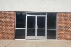 New Commercial Store Front Metal with Double Doors and Gray Tempered Safety Glass for Business Park - Fredericksburg, VA