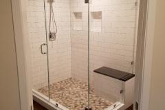 Custom Frameless Shower Door with Inline Panel & Return - Fairfax