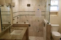 Custom Frameless Shower with Inline Panel and Return - Alexandria