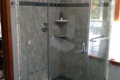 Neo-Angle Frameless Shower Door and Panels with Header - Fairfax, VA