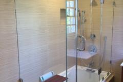 Frameless Tub Enclosure with Header - McLean, VA