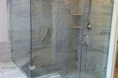 Frameless Shower Door, with Inline Panel and Return - Gainesville, VA